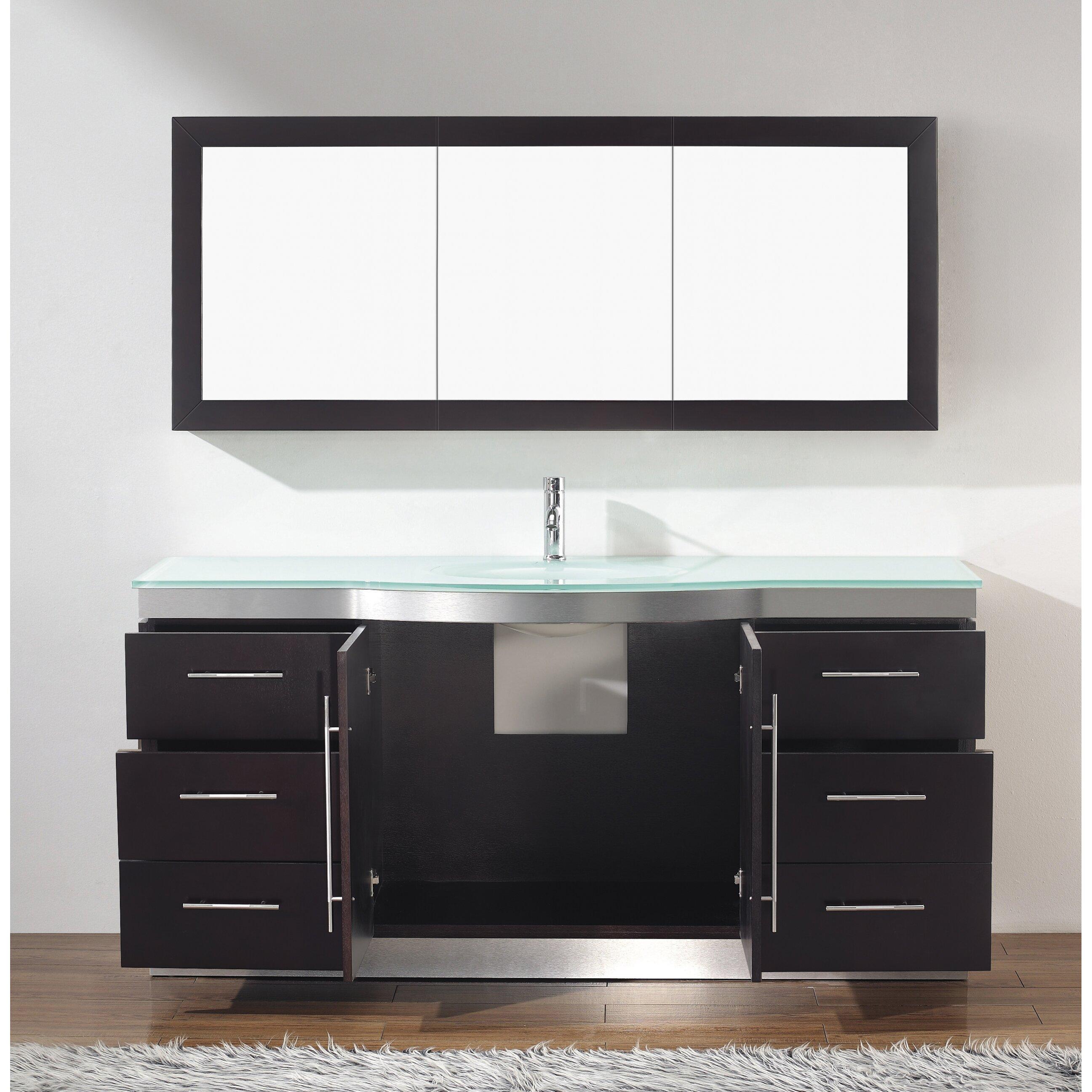 Bauhaus bath diara 72 single bathroom vanity set with for Vanity set with mirror