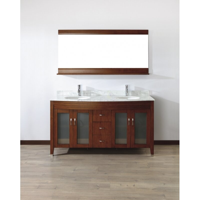 Bauhaus Bath Alfa 63 Double Bathroom Vanity Set With Mirror Wayfair