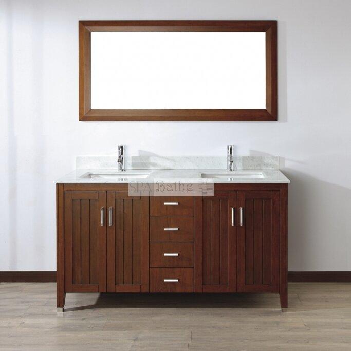 Bauhaus Bath Jacchi 60 Double Bathroom Vanity Set With Mirror Rev