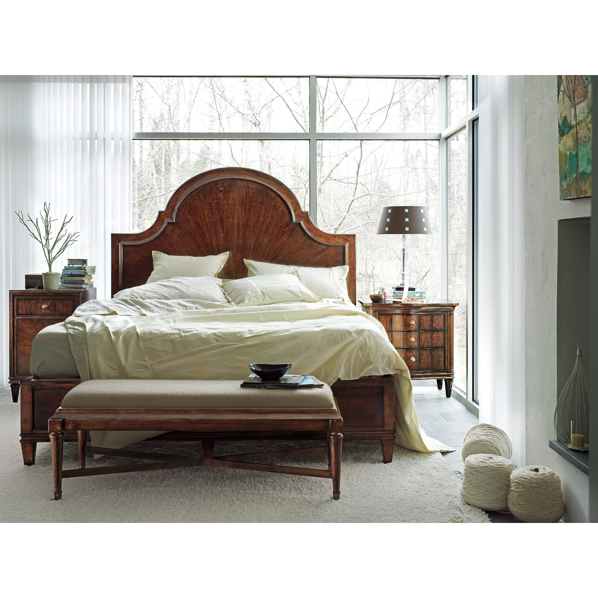 stanley avalon heights panel bed reviews wayfair. Black Bedroom Furniture Sets. Home Design Ideas