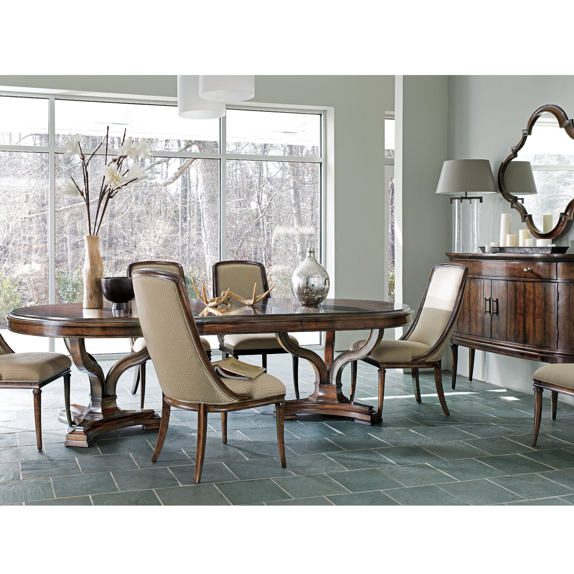 Stanley avalon heights dining table wayfair for Stanley furniture dining room sets