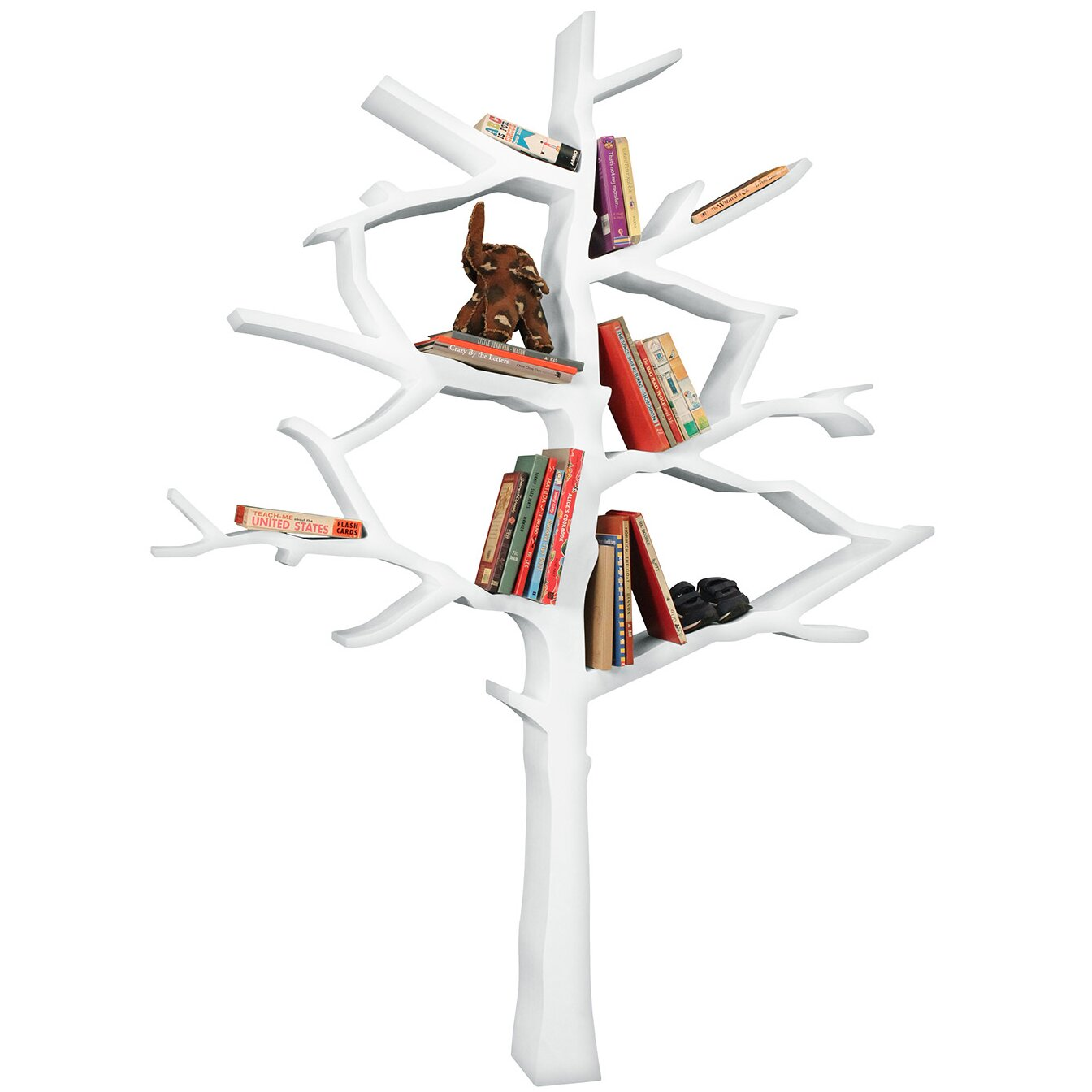 nursery works tree 63 quot bookcase reviews wayfair
