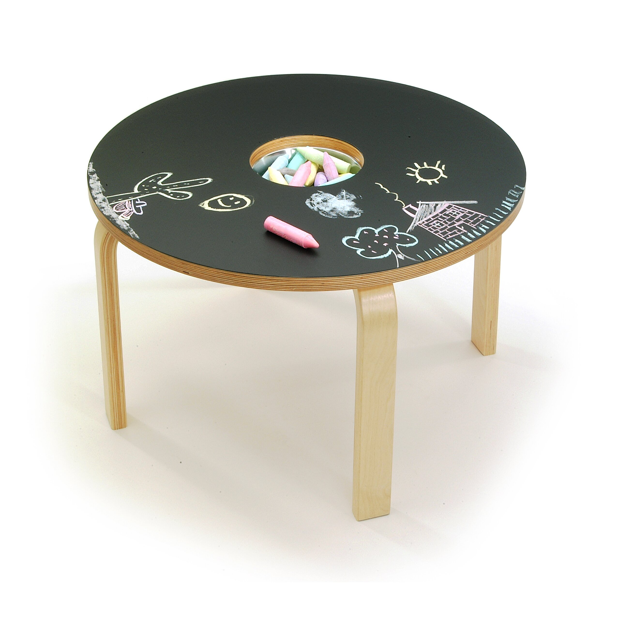 Offi Woody Chalkboard Kids Table Amp Reviews