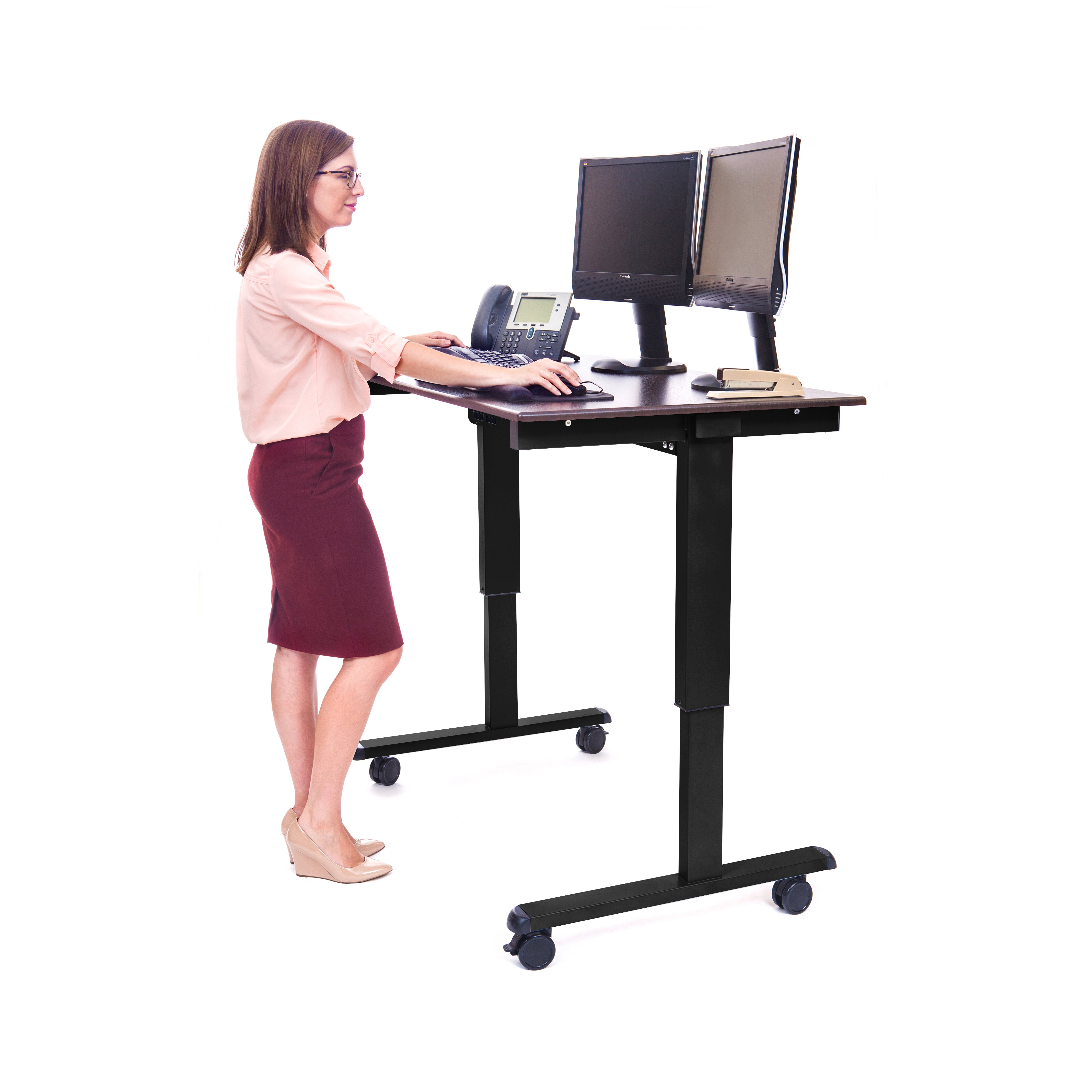 Luxor Height Adjustable Desk With Electric Amp Reviews Wayfair