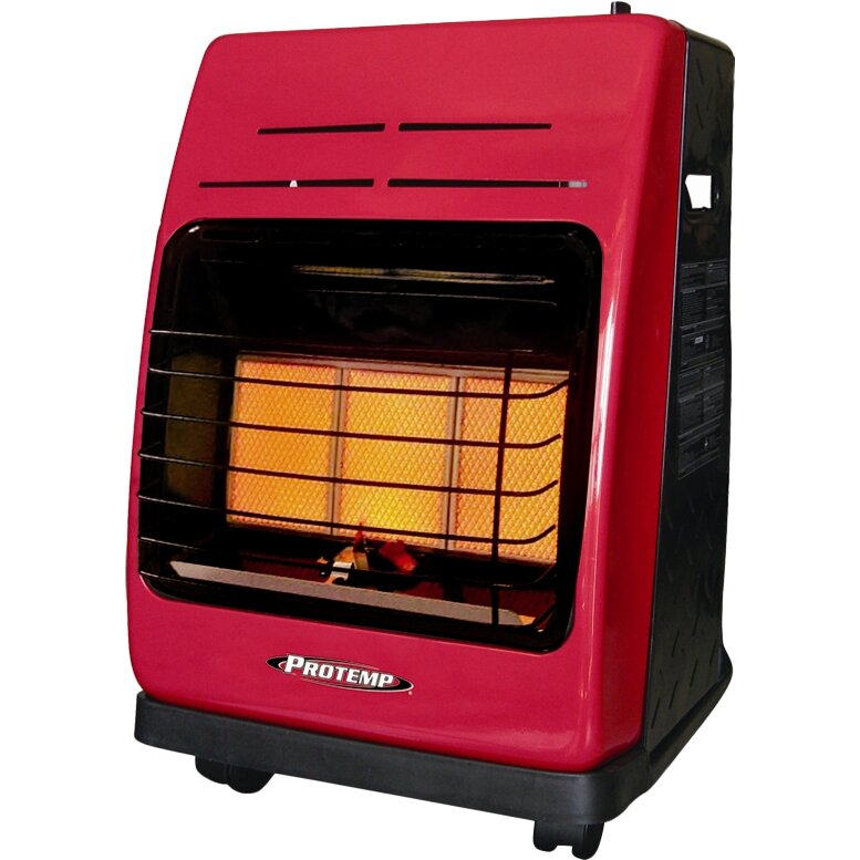 Protemp 18 000 btu portable propane radiant compact heater reviews wayfair - Best small space heaters reviews concept ...
