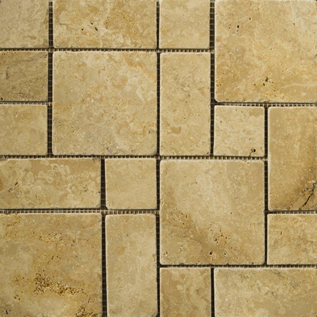 emser tile travertine 12 x 12 mini versailles mosaic in. Black Bedroom Furniture Sets. Home Design Ideas