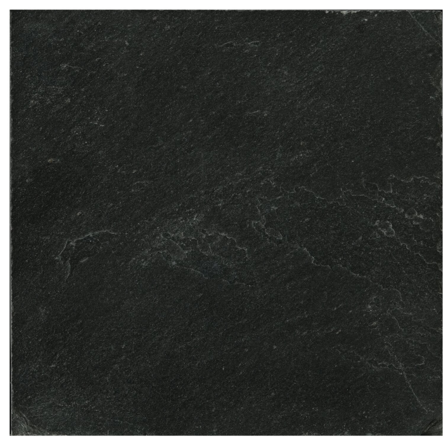 "Black Slate Flooring: Emser Tile Slate 12"" X 12"" Field Tile In Midnight Black & Reviews"