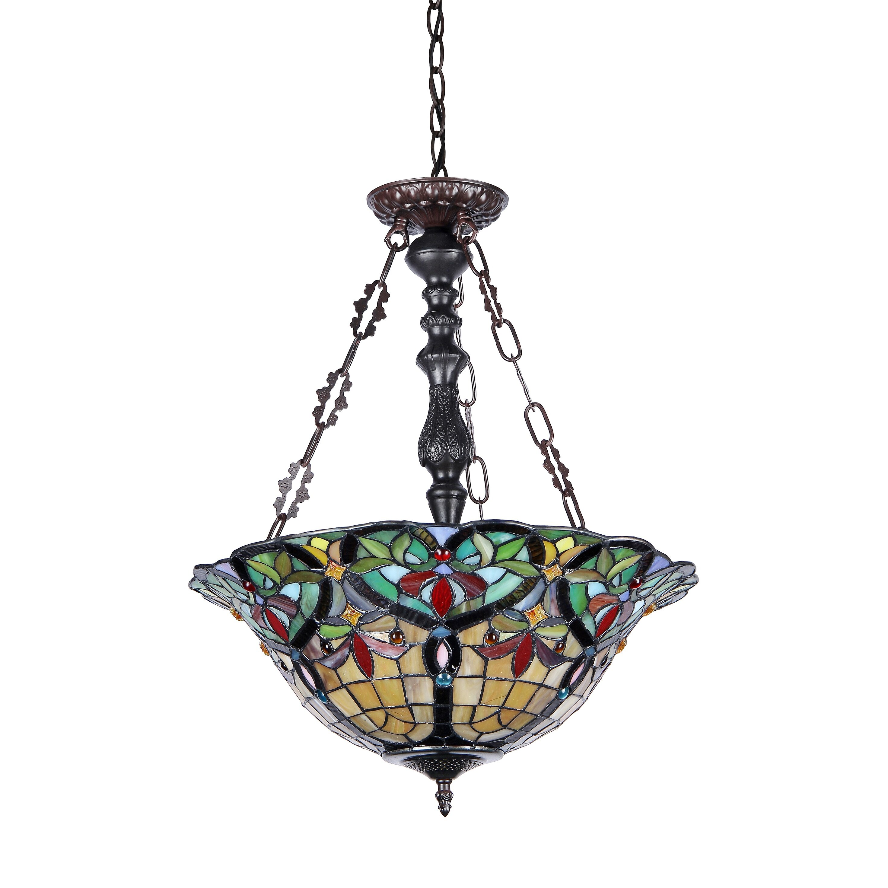 Chloe Lighting Victorian 3 Light Bertram Inverted Ceiling