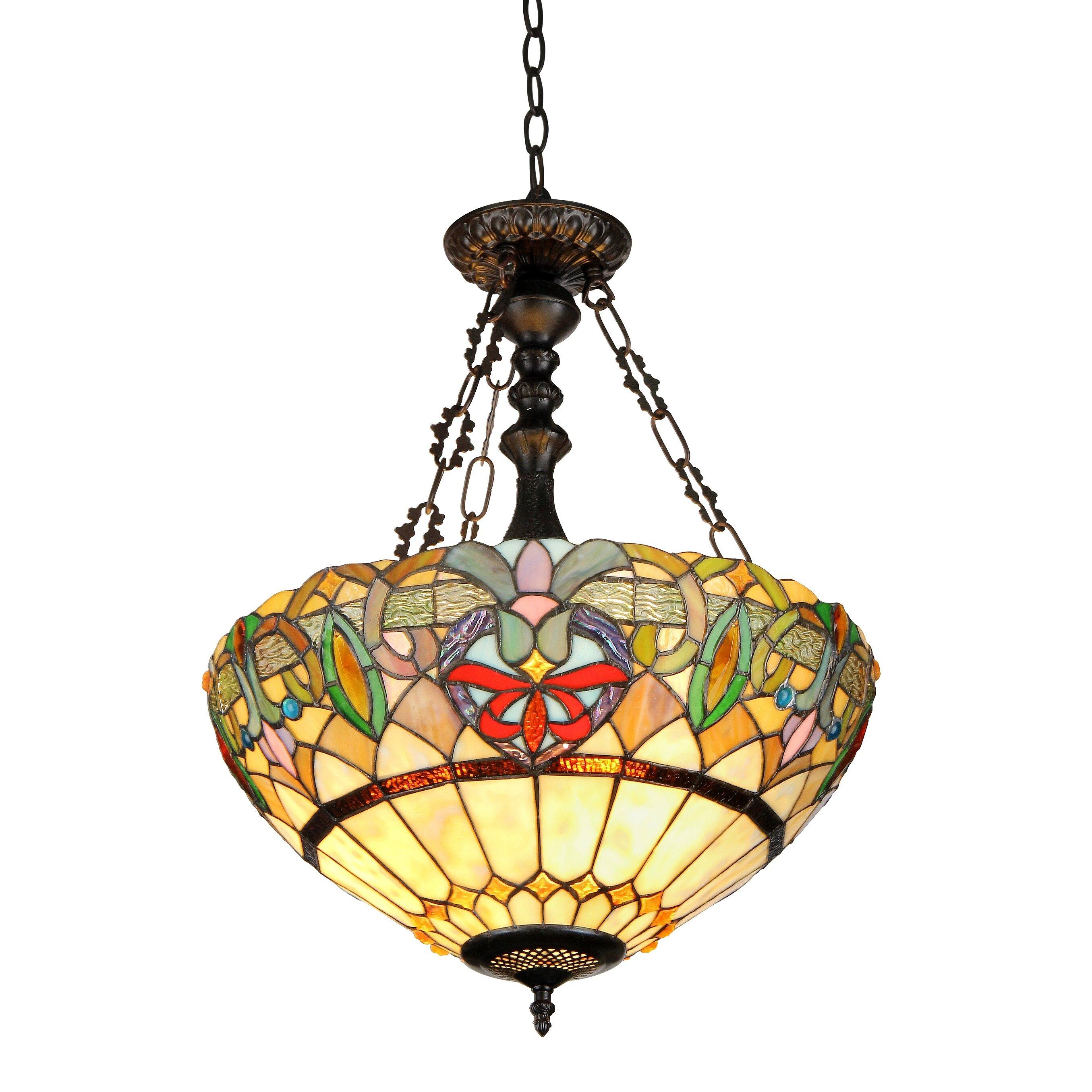 Chloe Lighting Victorian 2 Light Hester Inverted Ceiling