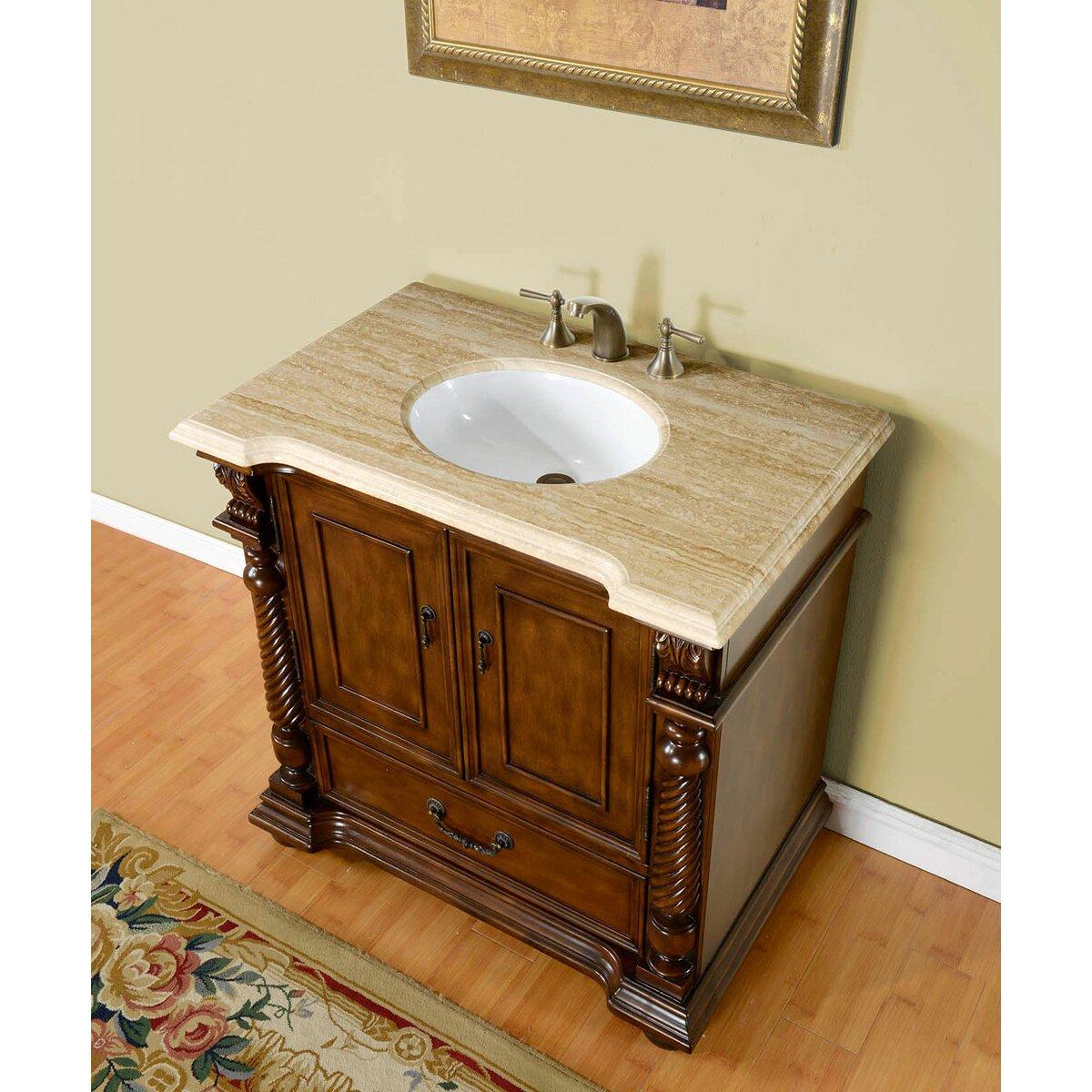 Silkroad Exclusive Bravia 36 Single Bathroom Vanity Set Reviews Wayfair