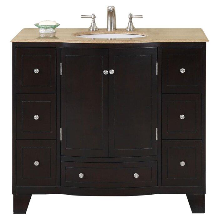 Silkroad Exclusive Merrimack 40 Single Bathroom Vanity Set Reviews