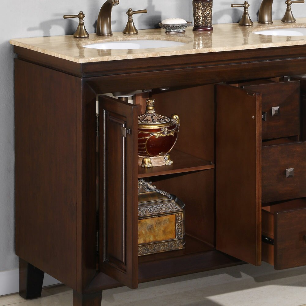 55 double sink bathroom vanity silkroad exclusive 55 quot bathroom vanity set 21849