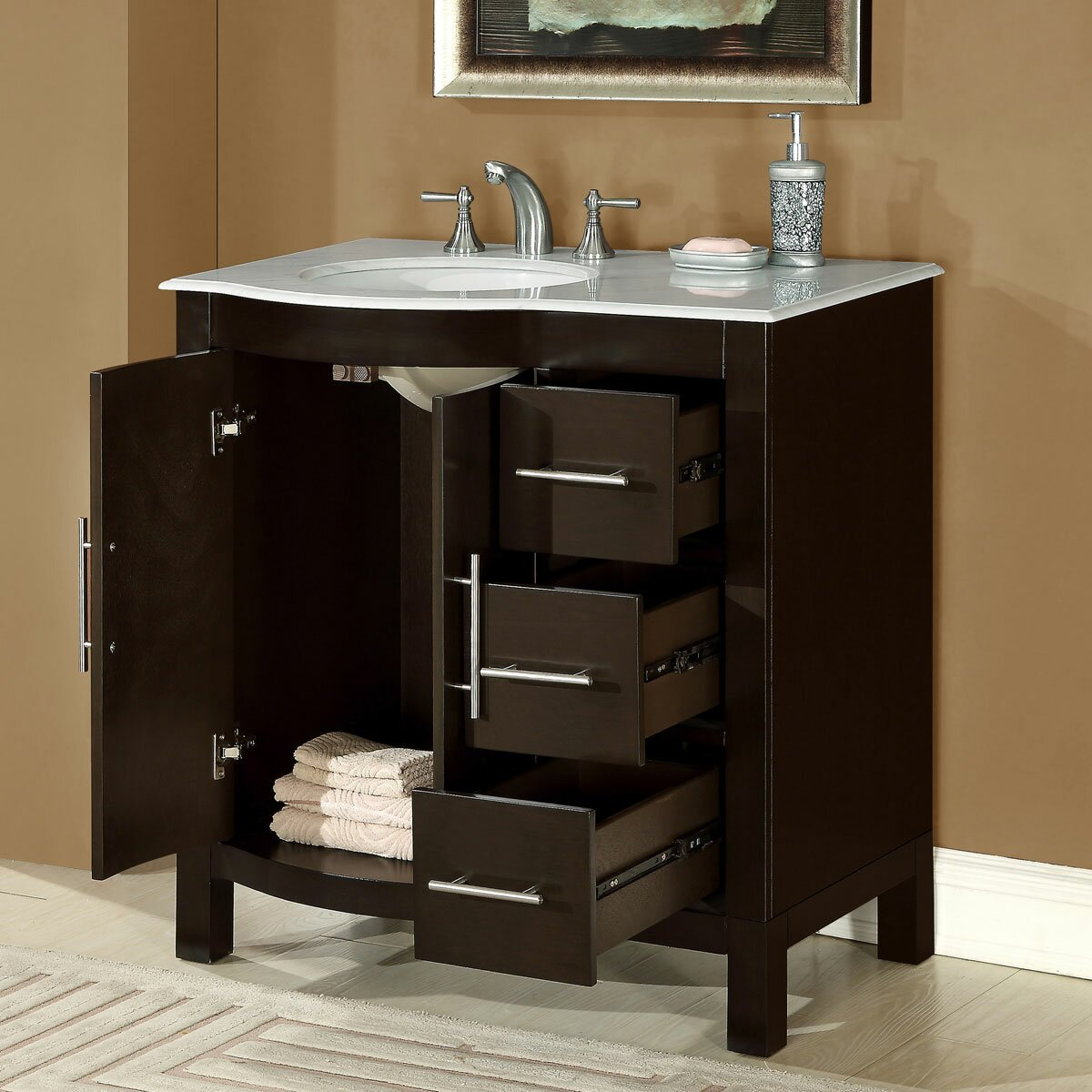 Silkroad Exclusive Kimberly 36 Single Bathroom Vanity Set Reviews