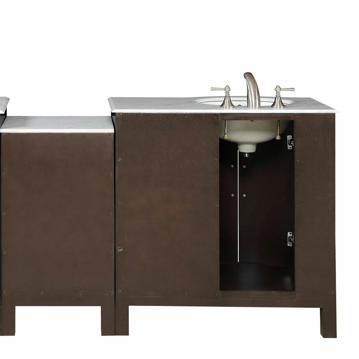 Silkroad Exclusive 53 5 Single Sink Lavatory Cabinet