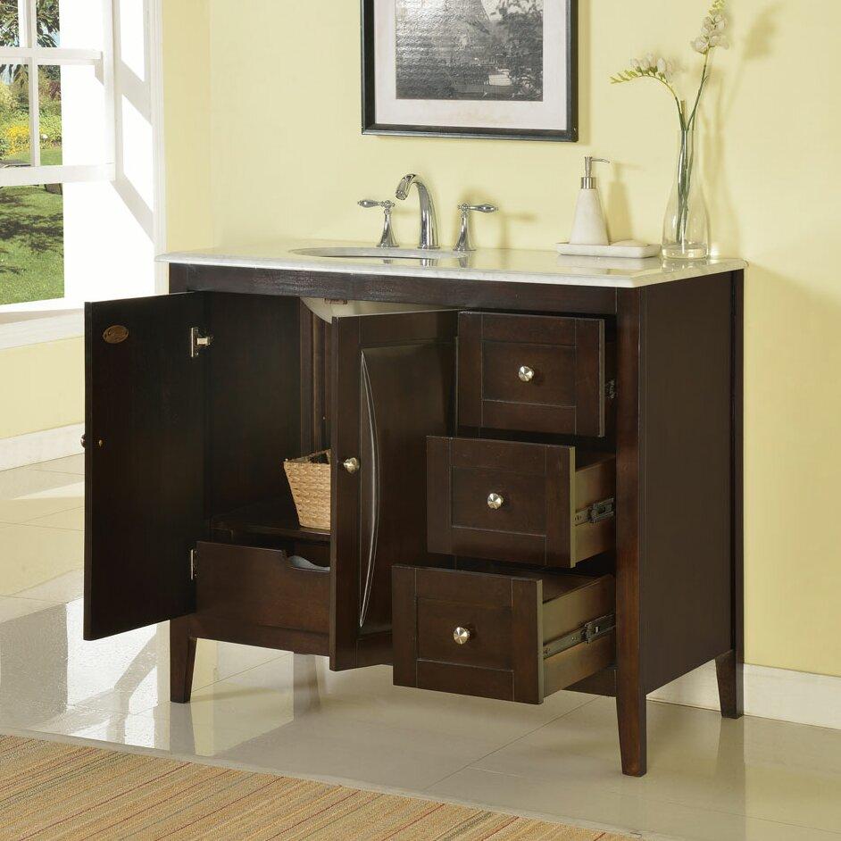 silkroad exclusive 45 single sink cabinet bathroom vanity set reviews wayfair. Black Bedroom Furniture Sets. Home Design Ideas