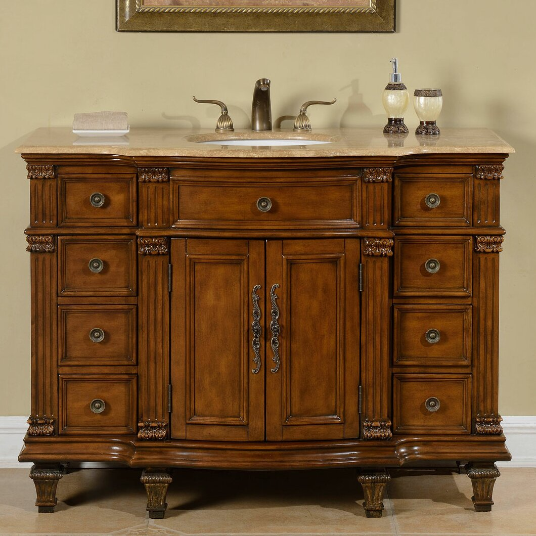 Silkroad Exclusive 48 Single Sink Cabinet Bathroom Vanity Set Reviews Wayfair