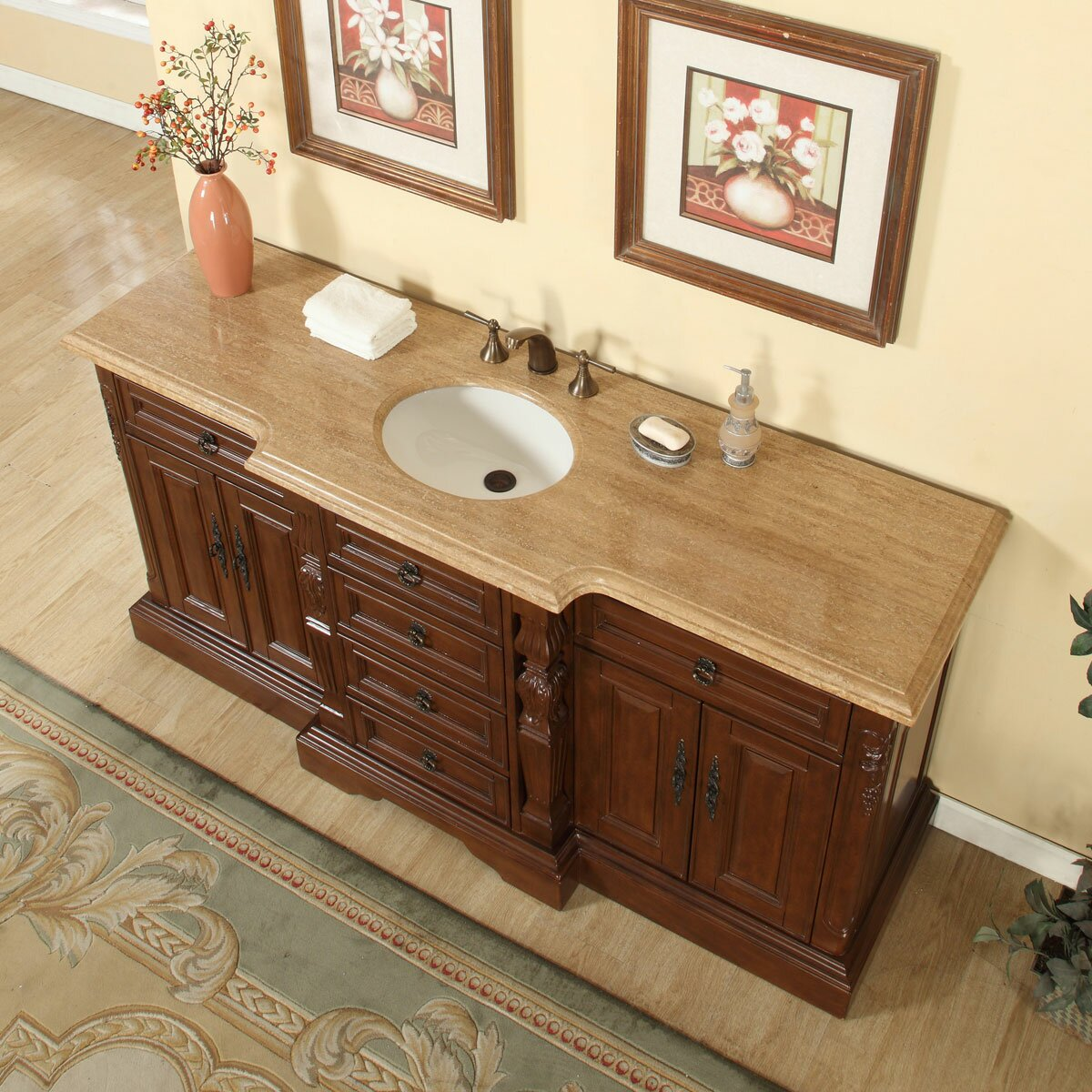 72 inch bathroom vanity single sink silkroad exclusive 72 quot single sink bathroom vanity set 24804
