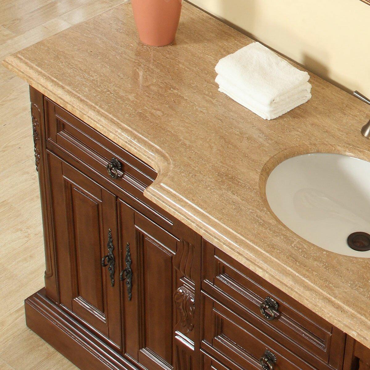 """Silkroad Exclusive 72"""" Single Sink Bathroom Vanity Set ..."""