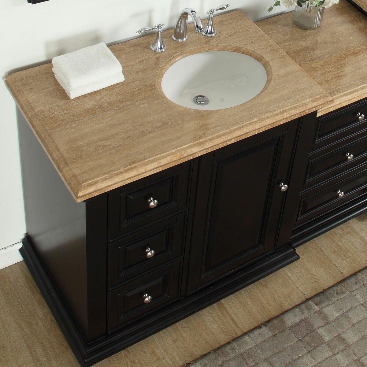 Silkroad exclusive 56 single bathroom modular vanity set for Prefab vanity