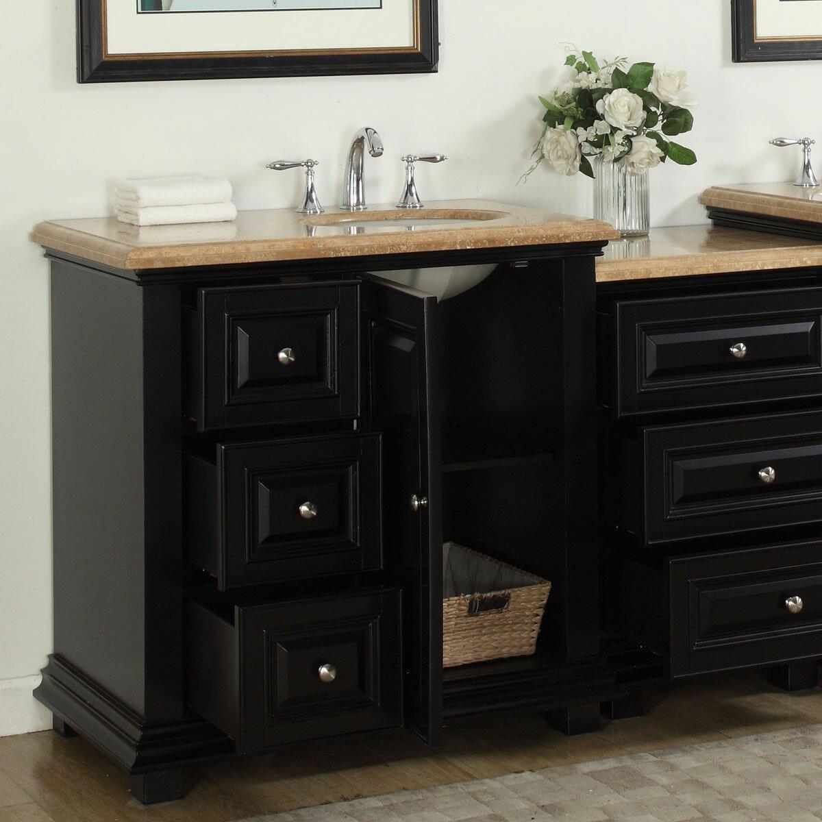silkroad exclusive 56 quot single bathroom modular vanity set