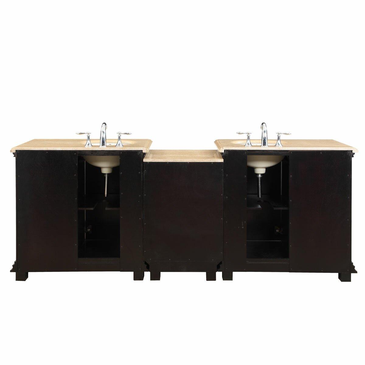 Silkroad Exclusive 90 5 Double Sink Bathroom Modular Vanity Set Reviews Wayfair
