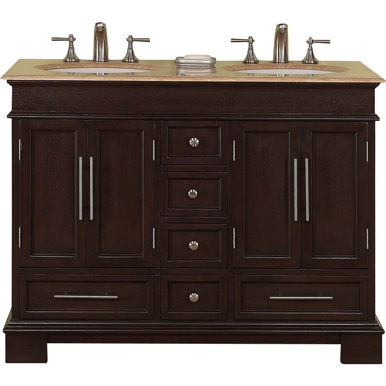 Silkroad Exclusive Sally 48 Double Bathroom Vanity Set Reviews