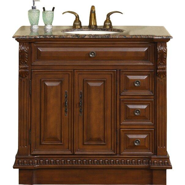 Silkroad Exclusive Millstone 38 Single Bathroom Vanity Set Reviews Wayfair