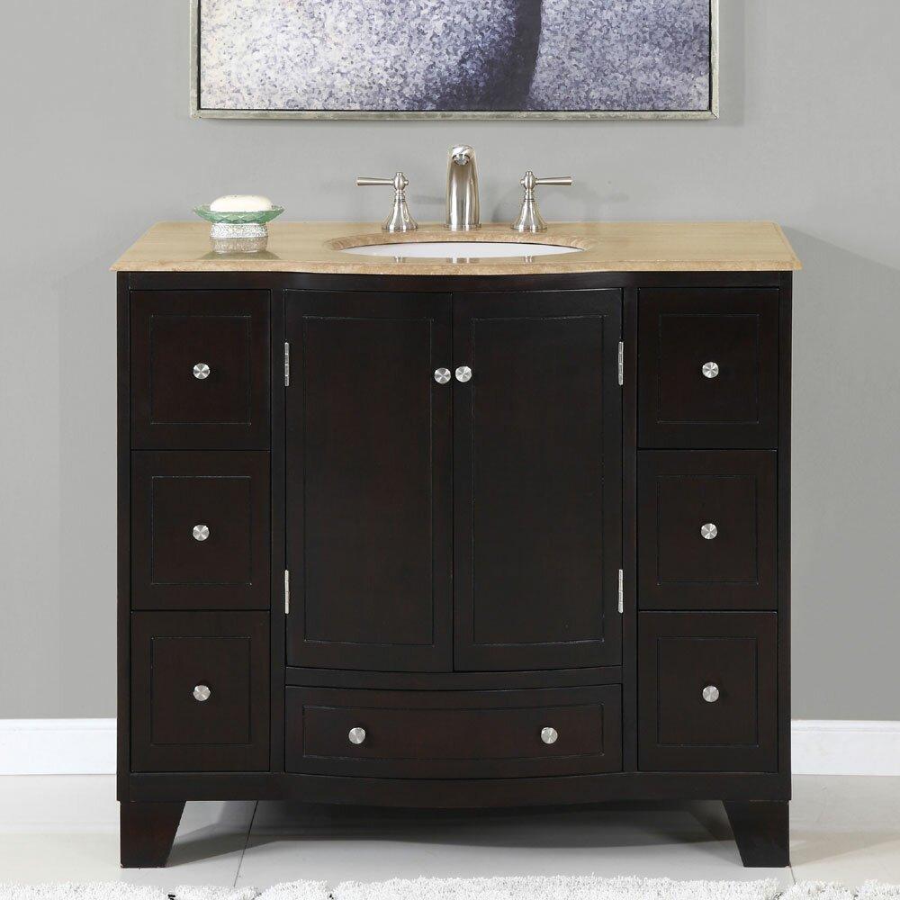 Silkroad Exclusive Merrimack 40 Single Bathroom Vanity Set Reviews Wayfair
