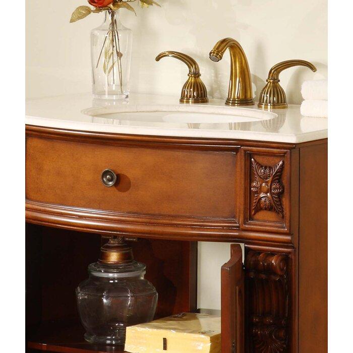 silkroad exclusive 33 quot single bathroom vanity set