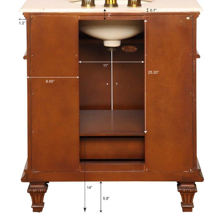 Silkroad exclusive springfield 31 single bathroom vanity set reviews wayfair for Silkroad bathroom vanity reviews