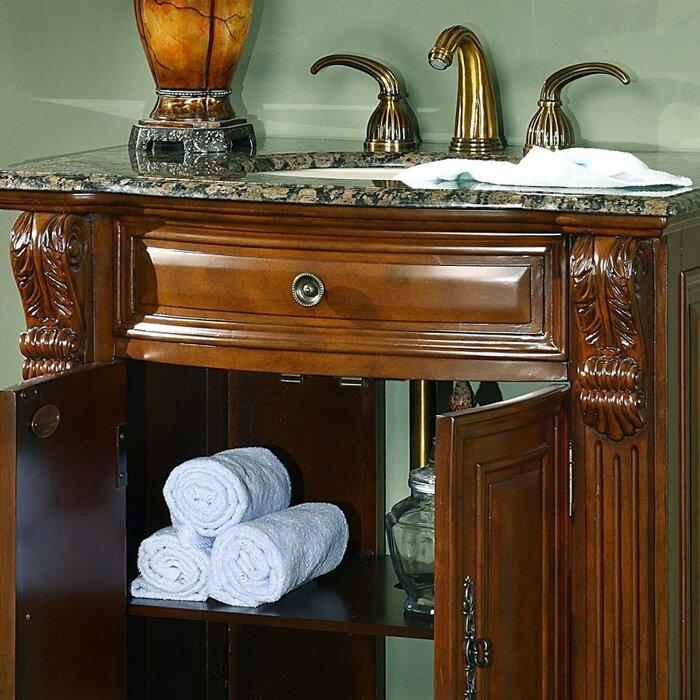 """Silkroad Exclusive Charlotte 33"""" Single Bathroom Vanity ..."""