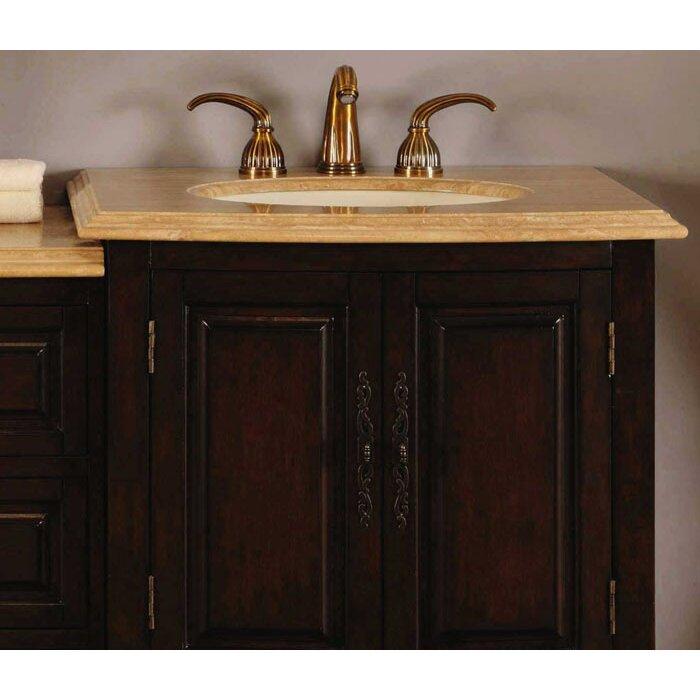 Silkroad Exclusive Evelyn 73 Double Bathroom Vanity Set Reviews Wayfair
