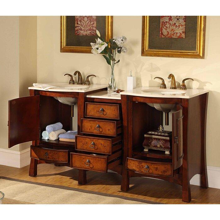 Silkroad exclusive northampton 67 double bathroom vanity set reviews wayfair for Silkroad bathroom vanity reviews