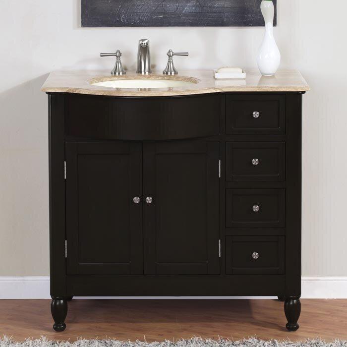 Silkroad exclusive hamilton 38 single bathroom vanity set reviews wayfair for Bathroom vanities hamilton