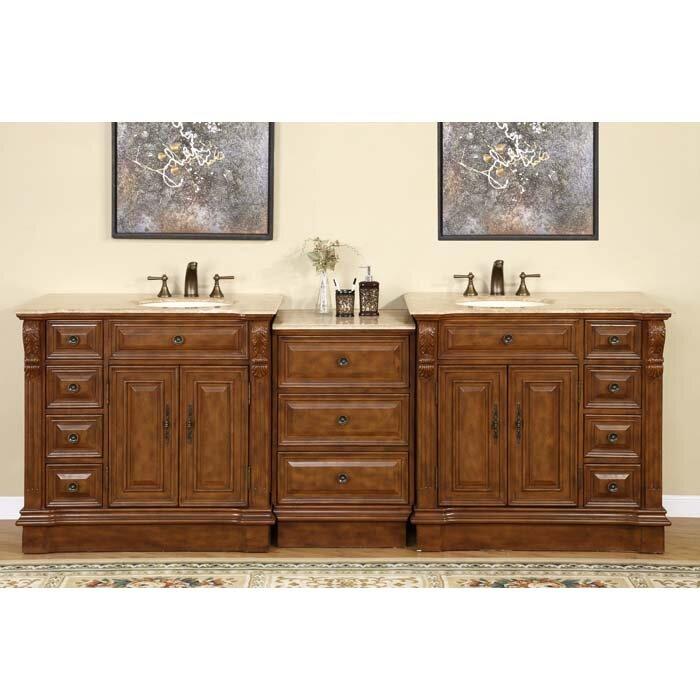 silkroad exclusive 95 quot bathroom vanity