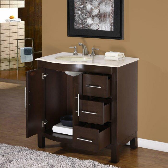 Silkroad exclusive kimberly 36 single bathroom vanity set reviews wayfair supply for Silkroad bathroom vanity reviews