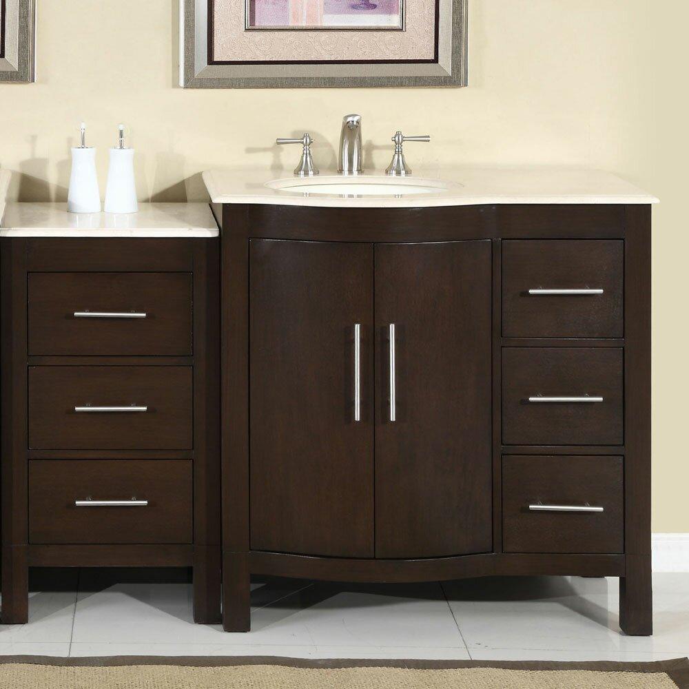 Silkroad Exclusive Kimberly 54 Single Bathroom Vanity Set Reviews Wayfair