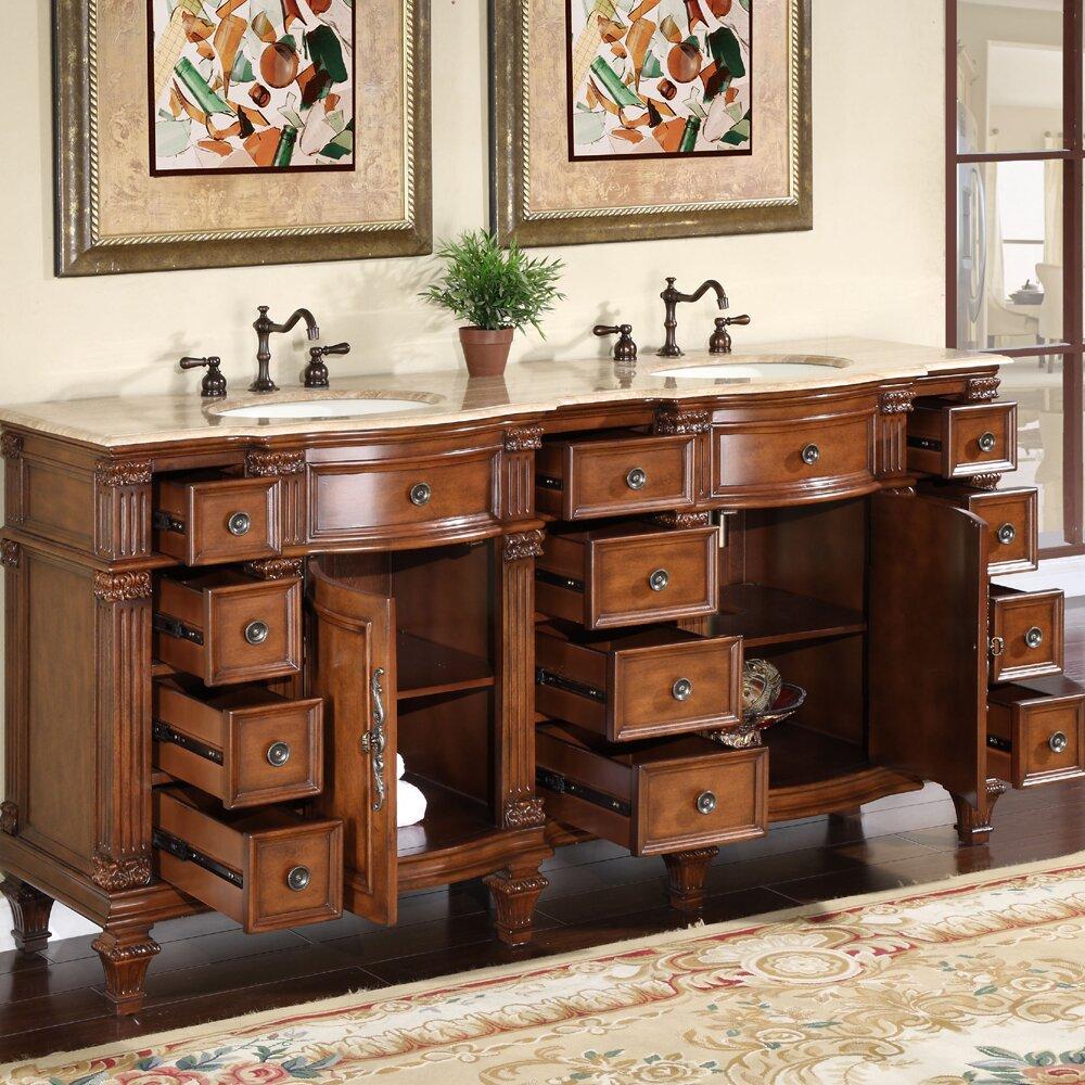 Silkroad Exclusive Blair 72 Double Bathroom Vanity Set Reviews