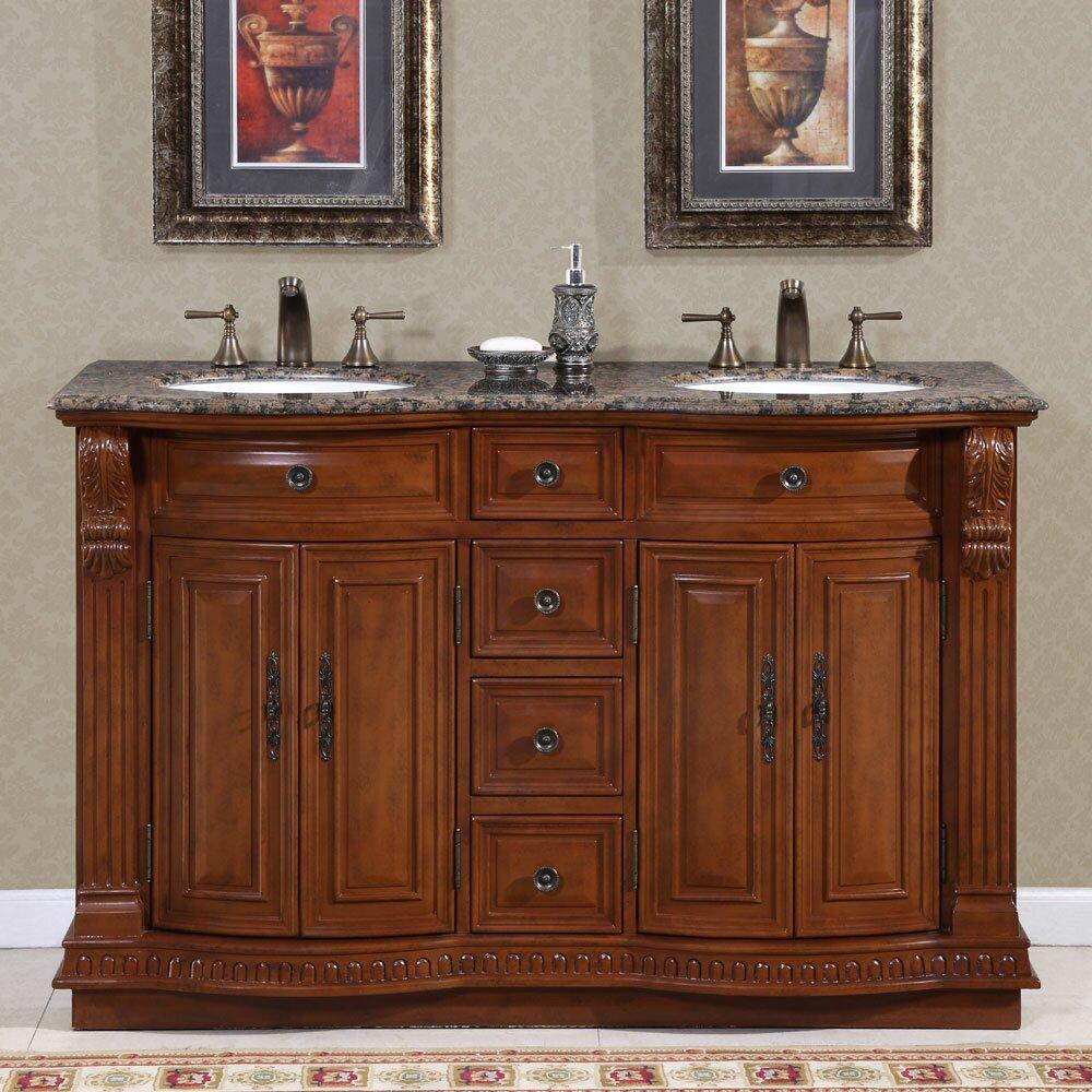 silkroad exclusive monica 56 double bathroom vanity set