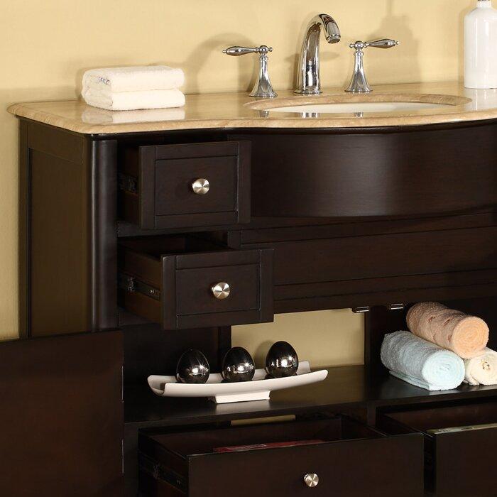 silkroad exclusive 45 quot single bathroom vanity set