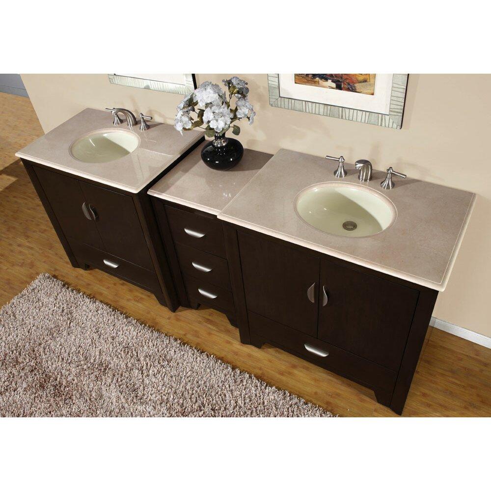 Silkroad Exclusive Ilene 89 Double Bathroom Vanity Set Reviews Wayfair