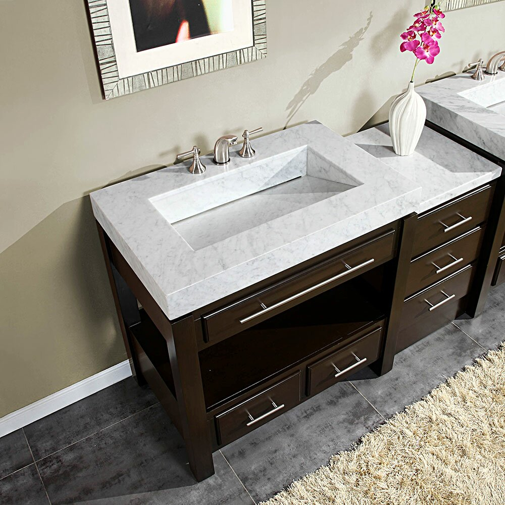 Silkroad exclusive stanton 56 single bathroom vanity set - Walmart bathroom vanities with sink ...