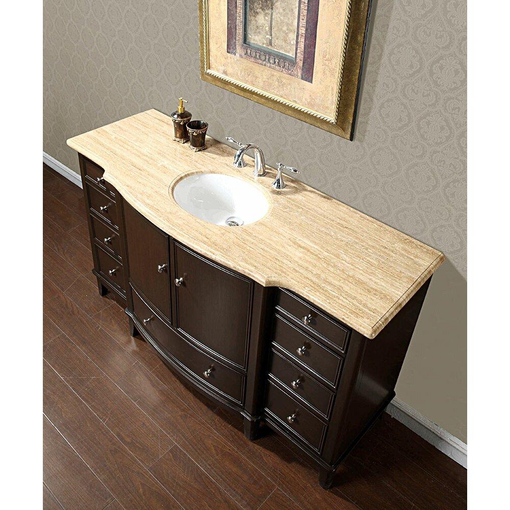 Silkroad exclusive clarice 60 single bathroom vanity set reviews wayfair for 60 bathroom vanity top single sink