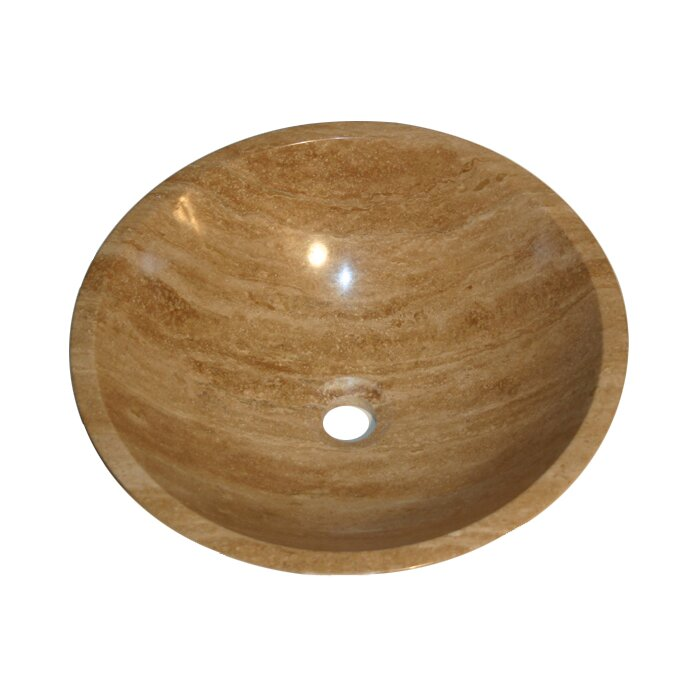 Marble Bowl Sink : ... Travertine Stone Vessel Sink Bowl Bathroom Sink & Reviews Wayfair
