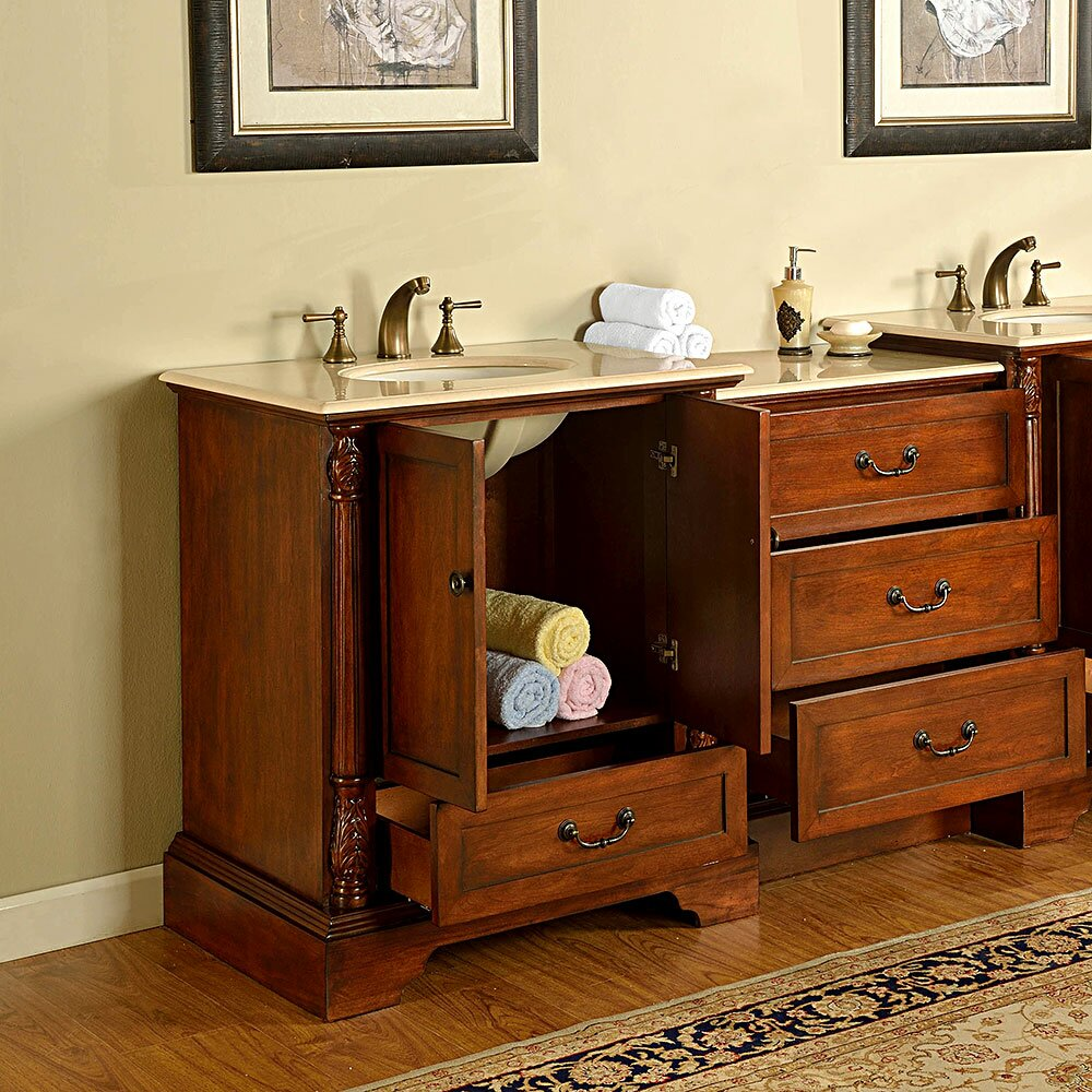 silkroad exclusive casshern 56 quot single bathroom vanity set