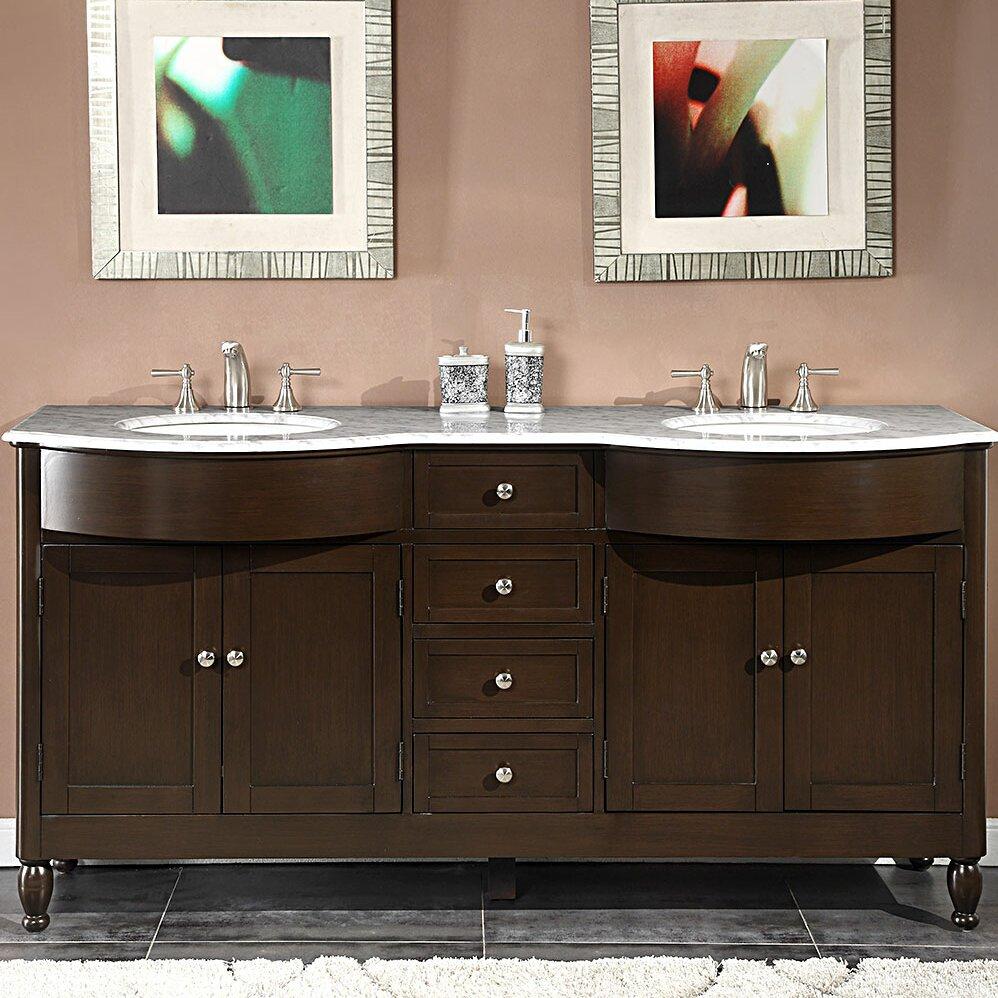 Silkroad Exclusive Kelston 72 Double Bathroom Vanity Set Reviews Wayfair