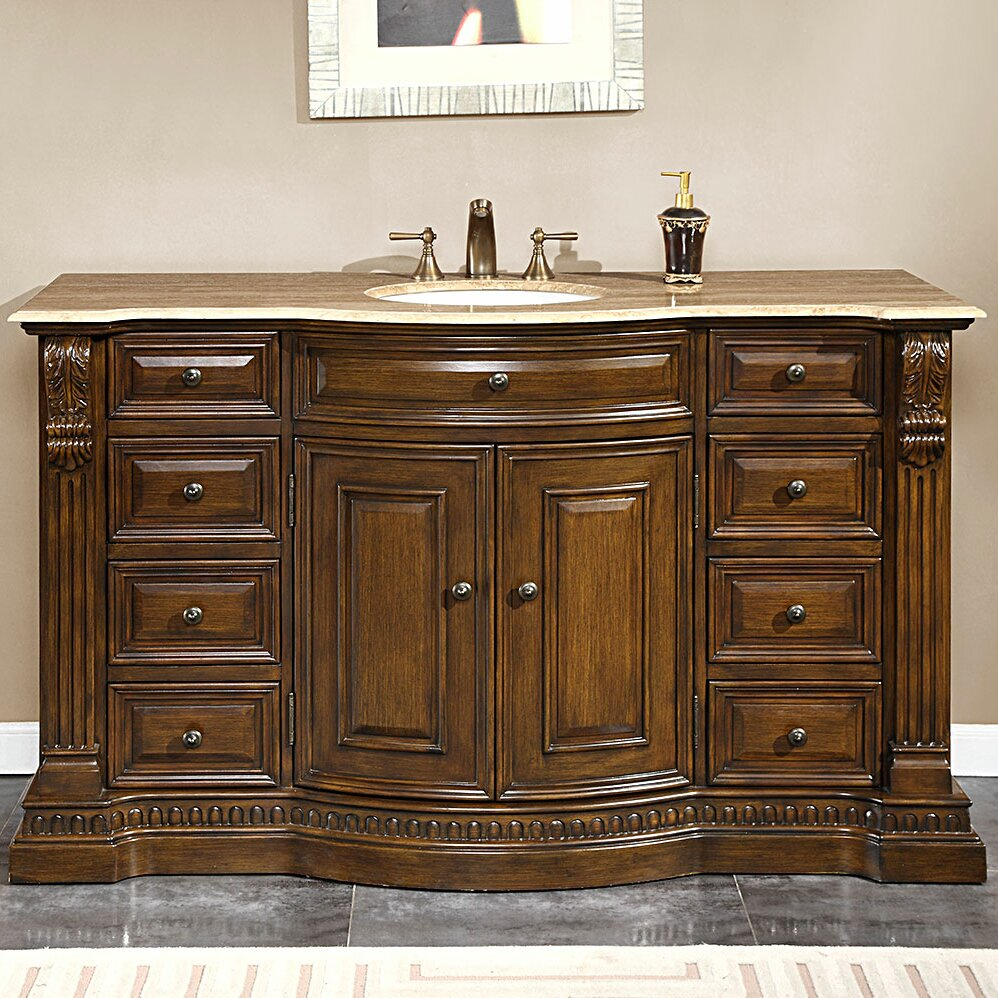 Silkroad exclusive samantha 60 single bathroom vanity set - Wayfair furniture bathroom vanities ...