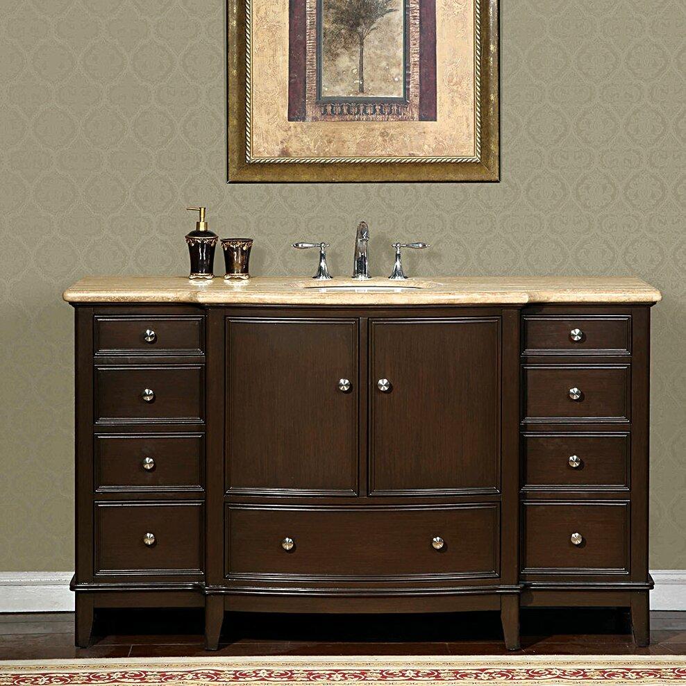 Silkroad Exclusive Clarice 60 Single Bathroom Vanity Set Reviews Wayfair