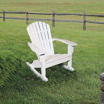 Seaside Casual Adirondack Shell Back Rocking Chair