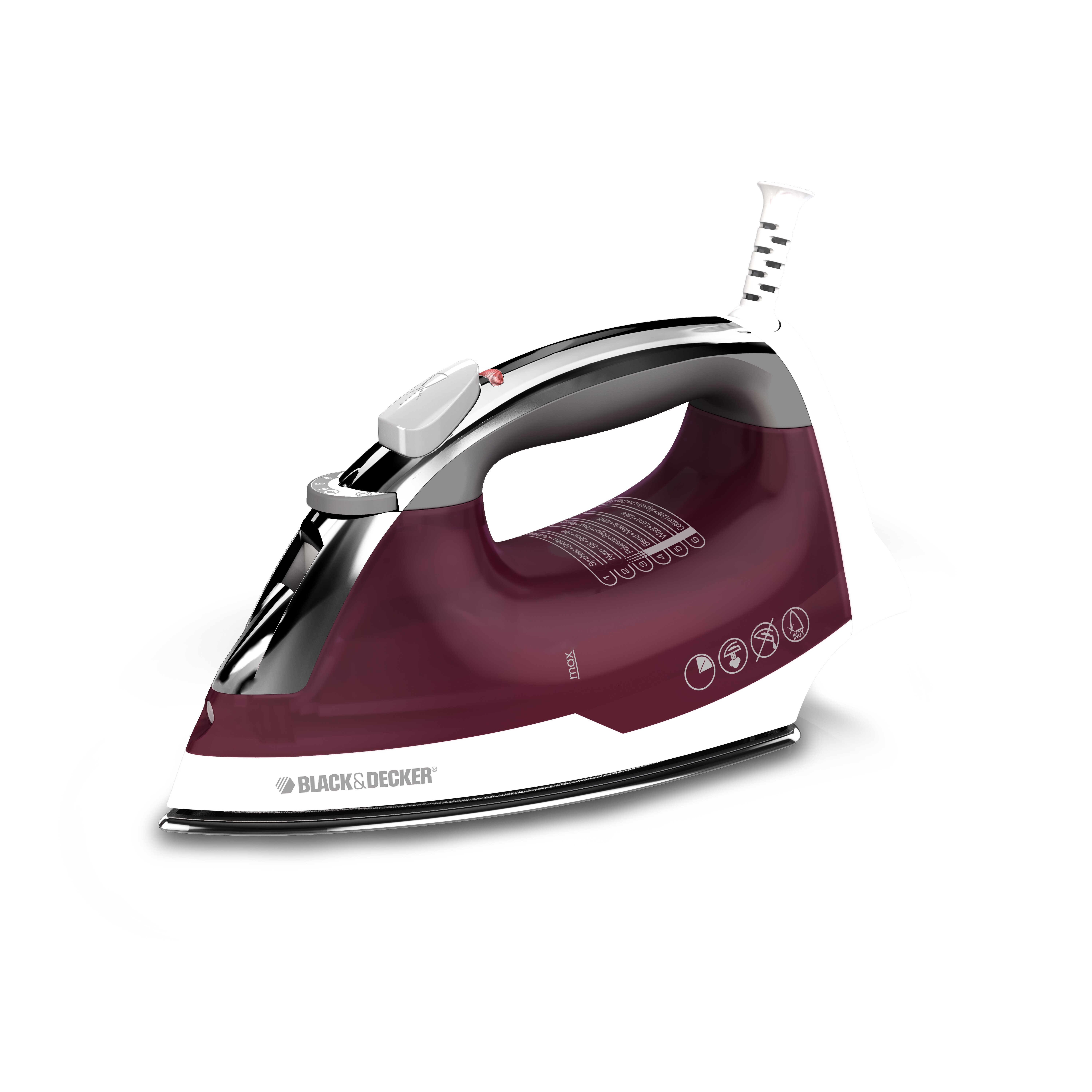 black and decker iron black amp decker easy steam stainless steel iron amp reviews 31473